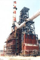 Haifa Oil Refinery 1000 tons furnce including stack and gaz ducts