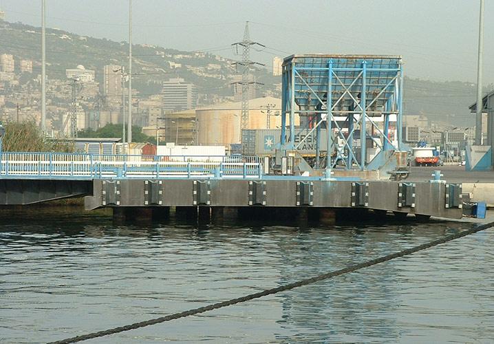 Floating bridge - Haifa port