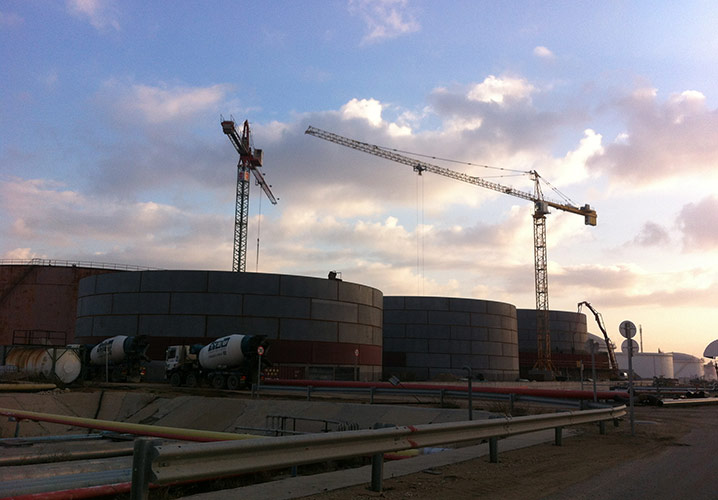 PAZ ASHDOD 5 STORAGE TANKS INCLUDING CIVIL WORKS 2012